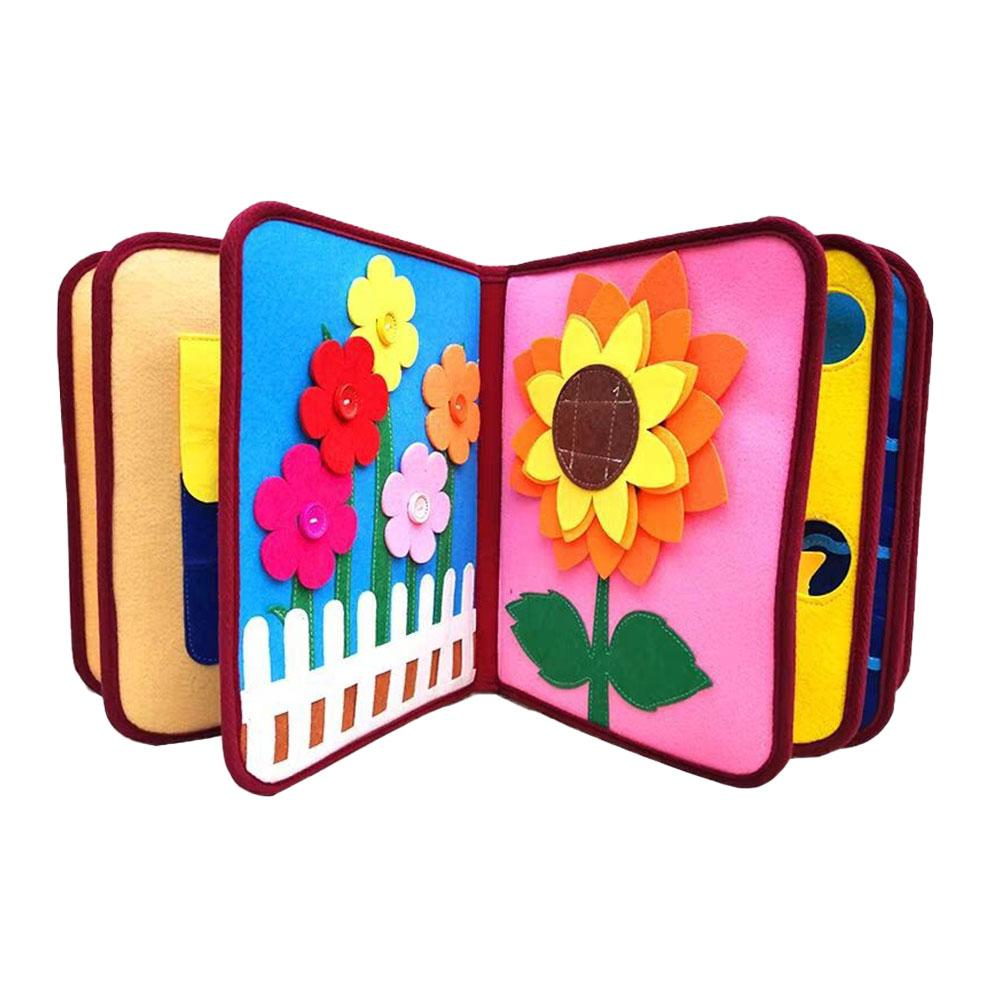 Baby Cloth Book Intelligence Development Educational Toy Soft Cloth Learning Cognize Books For 0-12 Months Kids Quiet Book