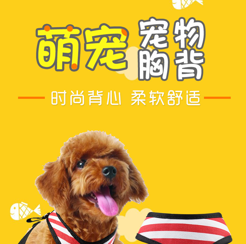 Fashion Mesh Dog Chest Strap Mesh Chest And Back Set Amazon Hot Selling Manufacturers Direct Selling