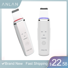 ANLAN Ultrasonic Skin Scrubber Facial Cleansing Lifting Red Blue Light Ion Face Care Acne Balckhead Dead Removal Beauty