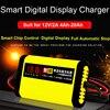 12V 2A Smart Auto Motorfiets Acculader 220V Volledige Automatische Lcd Display Moto Auto Lood-zuur Agm Gel vrla Batterijen Opladen