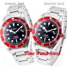 Men's Watch Corgeut 41mm Automatic Steel-Bracelet 20ATM Sapphire Glass Miyota8215 Luminous