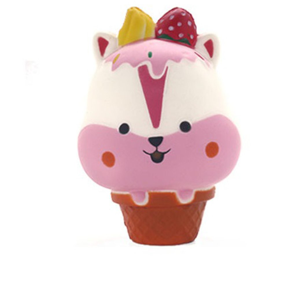 Slow Rebound Decompression Toy Soft Cute Squeezing Girl Cute Boring Vent Simulation Food Ice Cream Children Toys