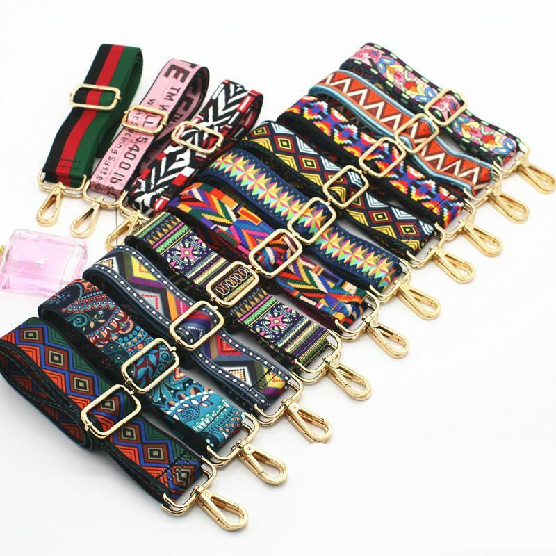 Colored Belt Bag Straps Adjustable Wide Strap Parts For Accessories Handle Handbag Nylon For Women Shoulder Messenger Bag Obag