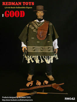 West Cowboy REDMAN TOYS 1/6 Scale RM042 The Good The Cowboy Action Figure Collectible Dolls Full Set Solider Action Figure 2