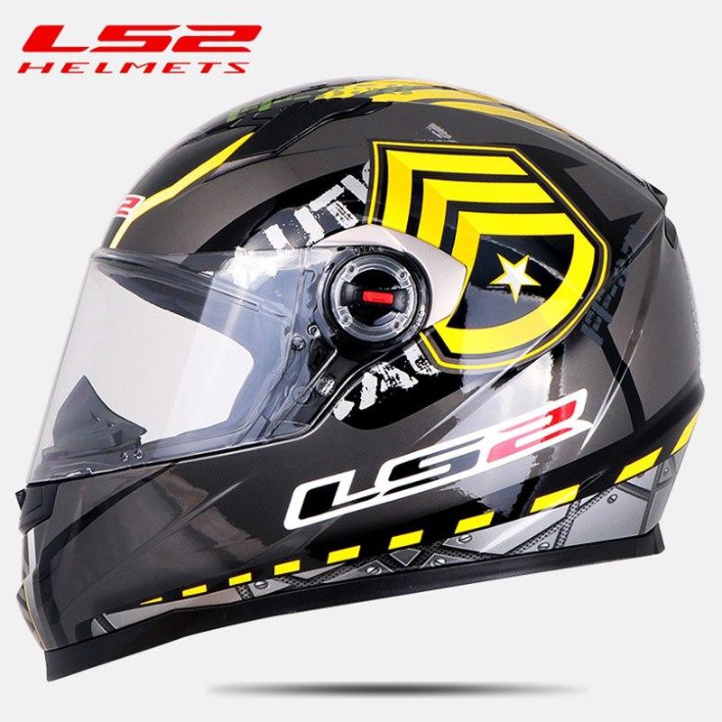 Us 79 0 Ls2 Ff358 Full Face Motorcycle Helmet Motocross Racing Man Woman Ls2 Original Ece Approved Multi Color Sun Visor In Helmets From Automobiles