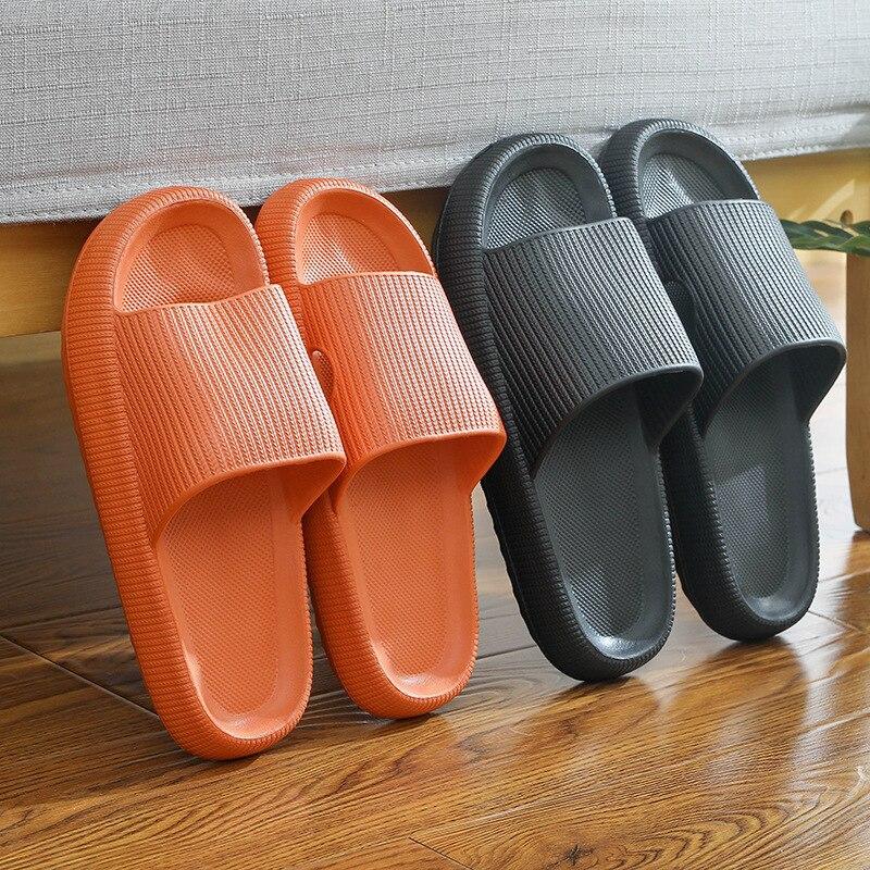 net celebrity bathroom platform slippers female non-slip couple home sandals and slippers rubber plastic EVA slippers male