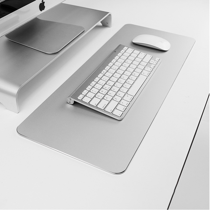 Small Large Mouse Pad Mat Hard Smooth Magic Thin Waterproof Mouse Pad Metal Aluminum Mouse Pad For Game Console Desktop Laptop