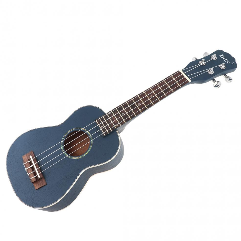 Купить с кэшбэком 21 Inch Soprano Ukulele Spruce Wood 15 Fret Four Strings Guitar + Bag + Tuner + Strings + Capo + Strap + Cloth