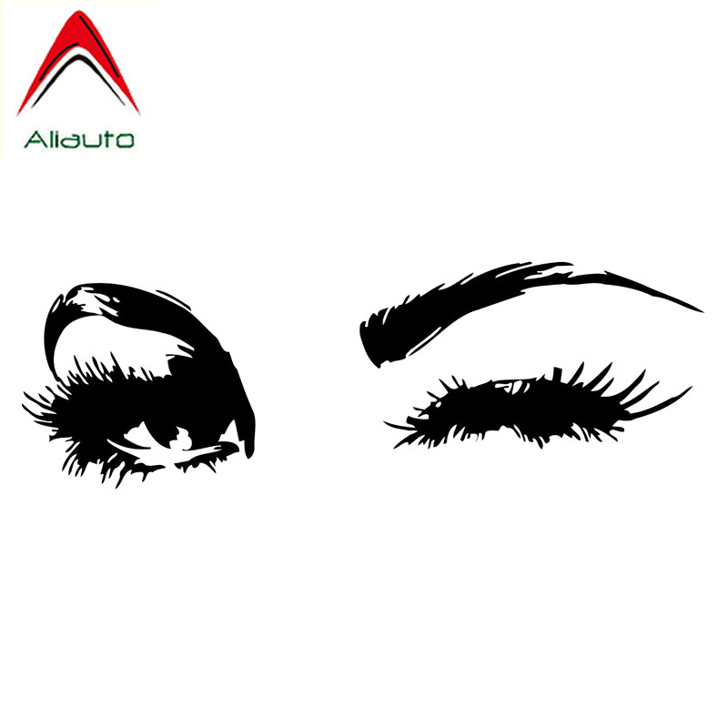Aliauto Fashion <font><b>Car</b></font> <font><b>Sticker</b></font> <font><b>Sexy</b></font> <font><b>Woman</b></font> Beauty Eyes Accessories Vinyl Decal Waterproof for Chevrolet Smart Toyota Lada,18cm*6cm image