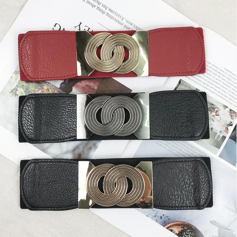 Plus Size Belt Ladies Waist Wide Belts For Women Elastic Cummerbunds Designer Belts High Quality Big Ceinture Femme Waistband