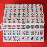 Large Size Wear resistant Household Hand rubbing Mahjong Board Games for Adults Red Mahjong Entertainment