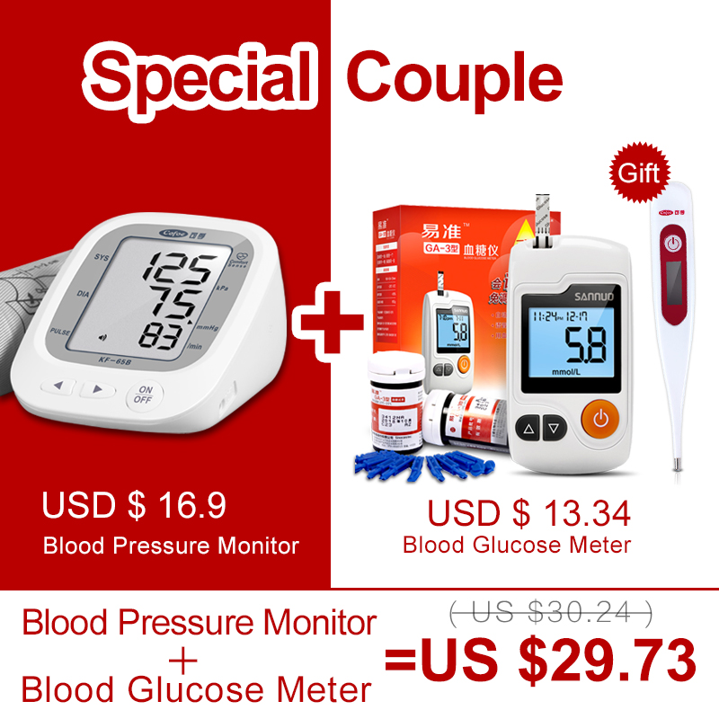medidores de prueba de diabetes en el brazo