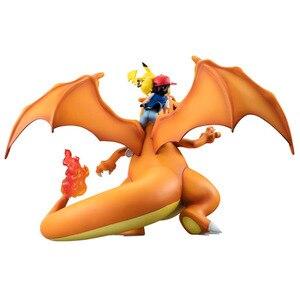 Image 3 - サトシとメガリザードンナキウサギ Lizardon アクションフィギュアプラモデル pkm アニメフィギュアコレクションおもちゃギフト子供のための