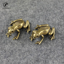 Office-Decoration Frogs Pet-Tabletop-Ornaments Tea Brass Copper Gift Bionic Animal Retro