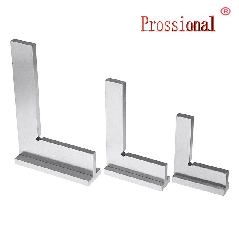New Machinist Square 90 Degree Right Angle Engineer Set With Seat Precision Ground Steel Hardened Angle Ruler
