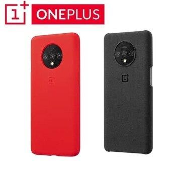 Перейти на Алиэкспресс и купить Оригинальный Oneplus 7T чехол 100% от Oneplus официальный защитный чехол нейлоновый бампер песчаник чехол OnePlus 7T Karbon бампер чехол