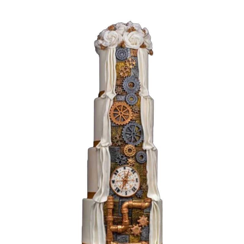 Shenhongアンティークコンパスフォンダン金型シリコーンケーキ金型gumpaste sugarcraftデザートベーキングツール装飾