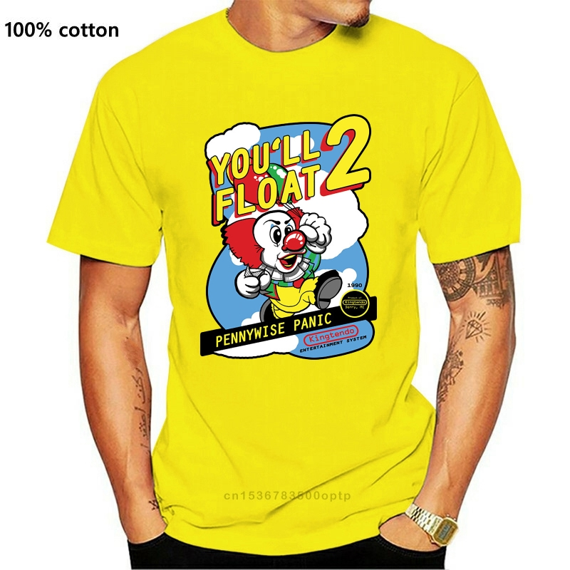 Stephen King IT NES Mens T-Shirt Funny Cotton Adult Tee Sizes Pennywise New Funny O Neck Tops TEE Shirt