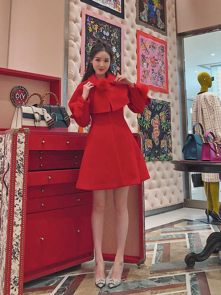 Herbst Winter Jacke Frauen Koreanische Mantel Weste Frauen Tops Fuchs Pelz Mantel Weibliche Jacke frauen Pelz Rot Veste femme ZT1707