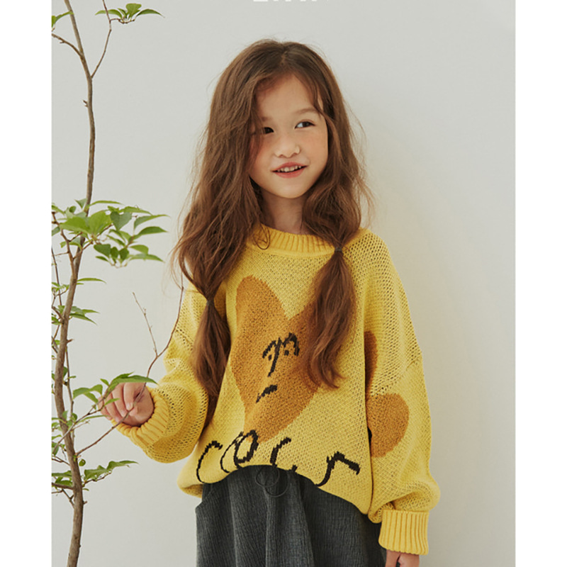 Kids Sweaters New Winter Korean Brand Boys Coat Girls Knit Print Pullover Baby Toddler Children Cotton Fashion Toddler Clothes 4