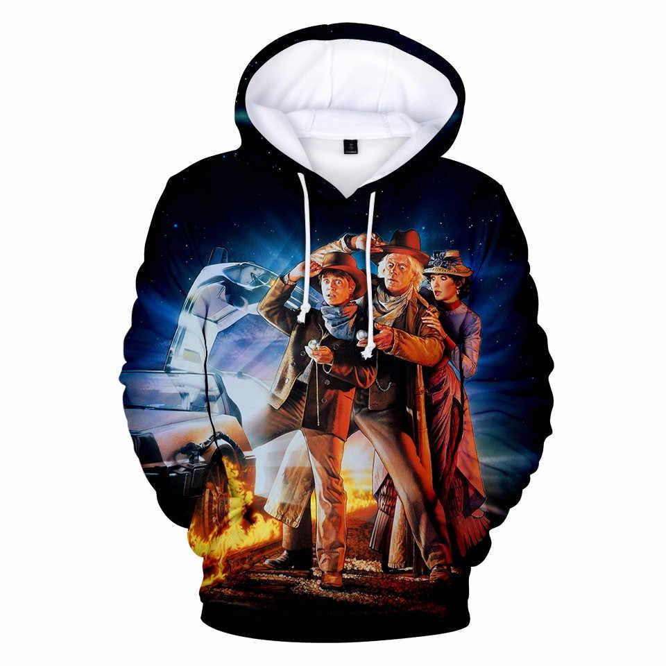Back to the Future Delorean 88 mph Marty Men Women Unisex Sweatshirt Hoodie 2350