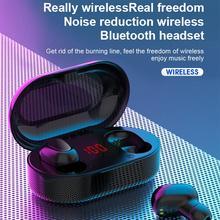 L22 TWS беспроводные Bluetooth наушники 5,0 светодиодный цифровой дисплей наушники-вкладыши черный/белый/розовый IPX5 водонепроницаемые спортивные наушники