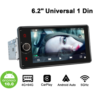 Universal 1 din Android 10 Car Radio Stereo Auto Autoradio Multimedia Player Car Products Single Din Head Unit Carplay 5GHz WIF image
