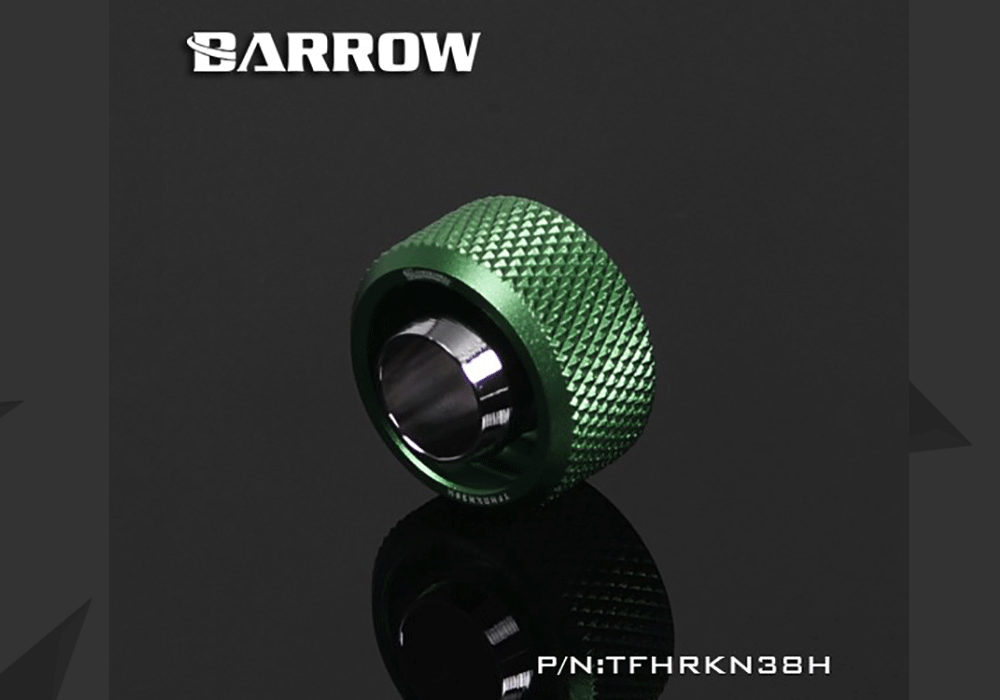 """Barrow TFHRKN38H, 3/8""""ID*5/8""""OD 10x16mm Soft Tube Fittings, G1/4"""" Fittings For Soft Tubes"""