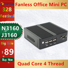 2020 Quad-Core 3160/J1900 Fanless Mini PC Windows 7/10 Mini Desktop pc Dual NIC WIFI Linux Pfsense Router firewall Server AES-NI(China)