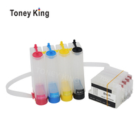 Toney King Ciss Ink System For HP 711 XL Continuous Ink Supply Tank For HP Designjet T120 24 T120 610 T520 24 T520 36 Printer