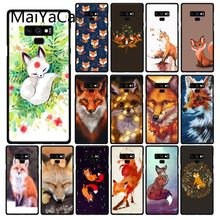 Maiyaca Fox In Autumn leaves forest Phone Case  For Samsung Galaxy A50 A70 A20 A30 Note9 8 Note7 Note10 Pro