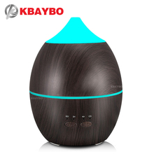 300ml KBAYBO Humidifier Aroma Diffuser Aromatherapy Wood Grain Essential Oil Diffuser Ultrasonic Cool Mist maker for Office Home home use portable 300ml light wood grain ultrasonic humidification aroma essential oil diffuser chern aromatherapy humidifier