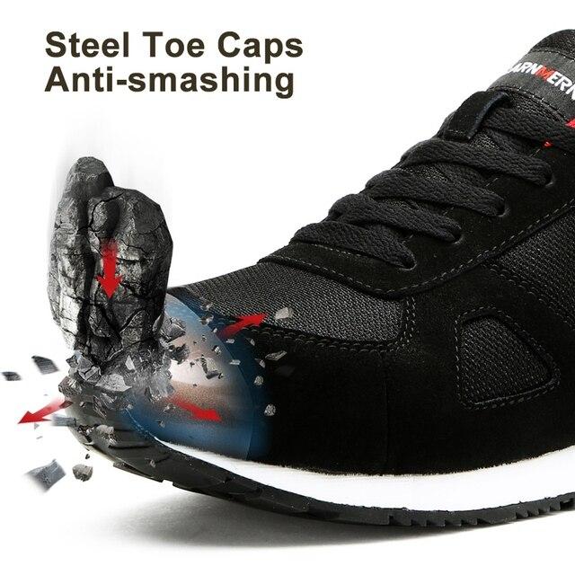LARNMERN أحذية أمان رجالية في الهواء الطلق SRC خفيفة الوزن أحذية رياضية 2