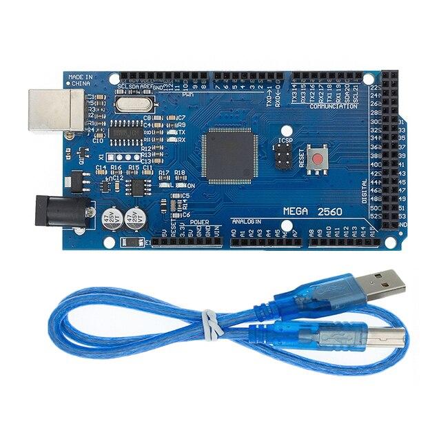 20 ชุด MEGA 2560 R3 Mega2560 REV3 20pcs ATmega2560 16AU + 20pcs สาย USB