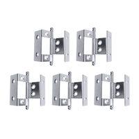 5 pçs/set Mini Gabinete Dobradiças Inserção Plena Envoltório Ajustável Dobradiças Da Porta Para Móveis Acessórios de Hardware Recursos Atacado|Dobradiças do armário| |  -