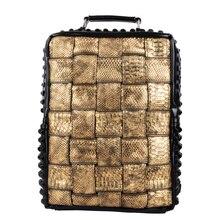 Прохладный корейский стиль простой мода рюкзак молнии тканые заклепки черный пара мужчин ПУ кожа открытый ранец