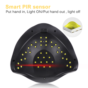Image 3 - Светодиодная УФ лампа для ногтей, Сушилка для ногтей 80 Вт для всех видов гель лака с таймером 10s/30s/60s/99s, Маникюрный Инструмент, гелевая лампа, 2019