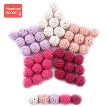 Mamihome 5pcs 20mm Wooden Crochet Beads Baby Teether DIY  Nursing Necklace Gift Wooden Blank Knitting Beads Children'S Goods Toy цена 2017