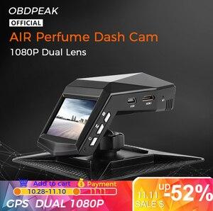 Car Perfume 1080P Dash Cam Air Freshene Car DVR HD Night Vision Camera Video Recorder Auto With Rear View Camera Vehicle Dvr