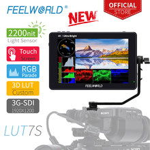 Feelworld LUT7S 7 Inch 3G-SDI 4Khdmi 2200Nits 3D Lut Touch Screen Dslr Camera Veld Monitor Met Golfvorm Vectorscope histogram(China)