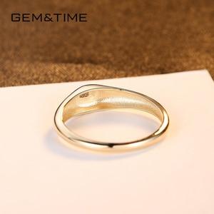 Image 5 - פנינה & זמן אמיתי 14K זהב מוצק מלוטש טבעות לנשים קוריאני צהוב זהב 585 טבעות נישואים הצהרת תכשיטי Bague Femme