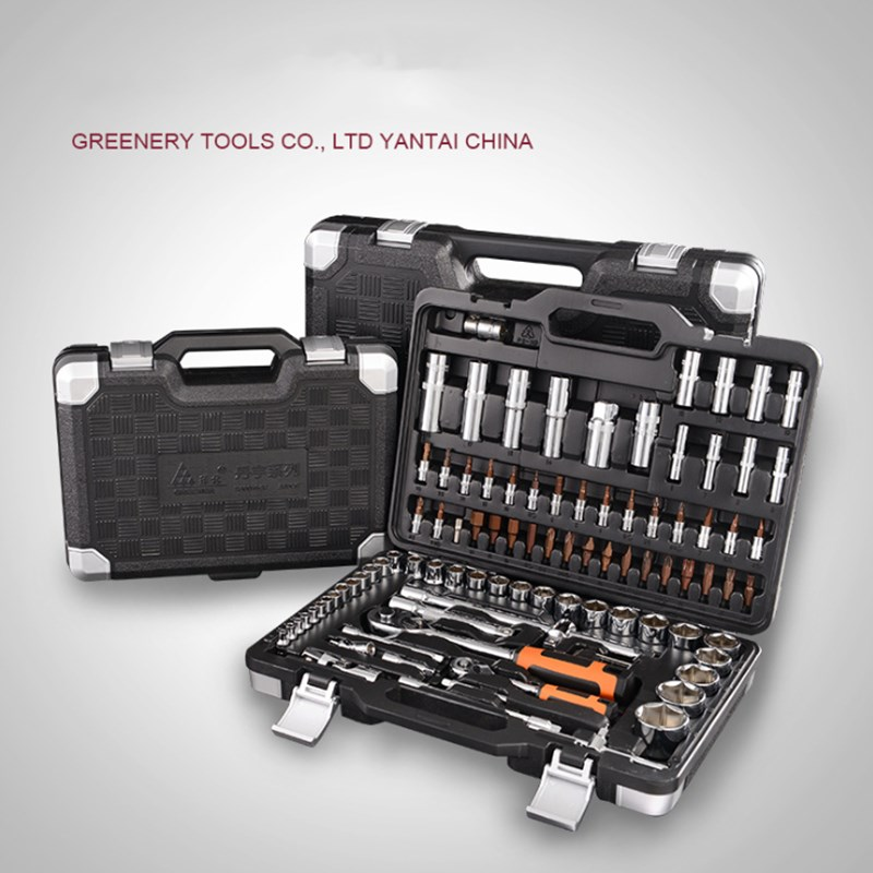 Car Tool Set Socket Wrench Auto Repair Tool Fast Ratchet Wrench Combination Multi function Toolbox Set in Hand Tool Sets from Tools