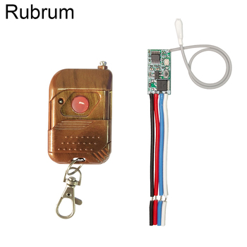 Rubrum 433mhz DC 3.6V 6V 12V 24V 1CH Mini Relay Wireless RF Remote Control Switch LED Lamp Controller Micro Receiver Transmitter цена 2017