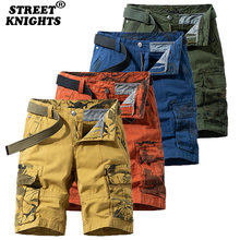 2021 Men New Summer Camouflage Fashion Cotton Casual Breeches Cargo Shorts Men Breathable Quick Dry Multi Pocket Hip Hop Short