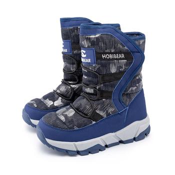SKHEK -30 stopni zimowe ciepłe buty dla dzieci modne wodoodporne buty dla dzieci dziewczęce buty dla chłopców idealne na akcesoria dla dzieci tanie i dobre opinie RUBBER Platforma Unisex Buty śniegu Mieszkanie z Pluszowe Okrągły nosek Hook loop Pasuje prawda na wymiar weź swój normalny rozmiar