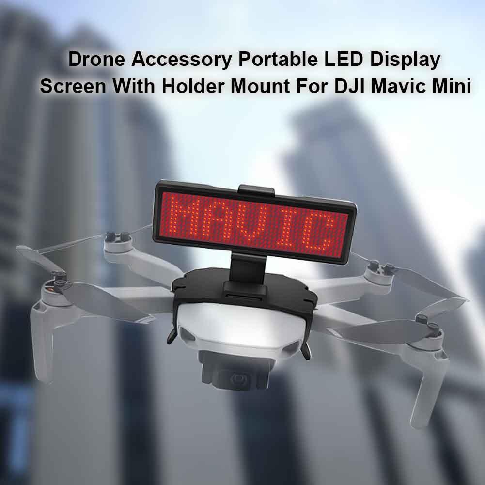 bricolage-led-ecran-d'affichage-resistance-aux-chutes-support-de-panneau-graphique-publicite-drone-accessoire-abs-leger-pour-dji-font-b-mavic-b-font-mini
