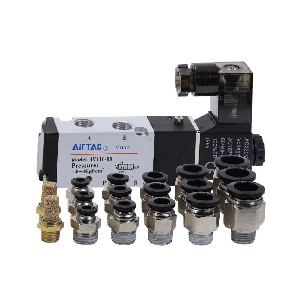 AIRTAC 4V110-06 Pneumatic Solenoid Valve <font><b>5</b></font> Way <font><b>2</b></font> Position <font><b>1</b></font>/8