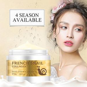 25g Snail Face Cream Hyaluronic Acid Moisturizer Anti Wrinkle Anti Aging Nourishing Serum Collagen Essence Whitening Cream TSLM2