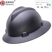 Capacete de segurança de trabalho de alta resistência de pouco peso da forma do capacete da segurança do trabalho da borda completa