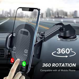 Car-Phone-Holder Sucker Car-Stand Support Mobile-Cell Cellphone Carbon-Fiber No-Magnetic